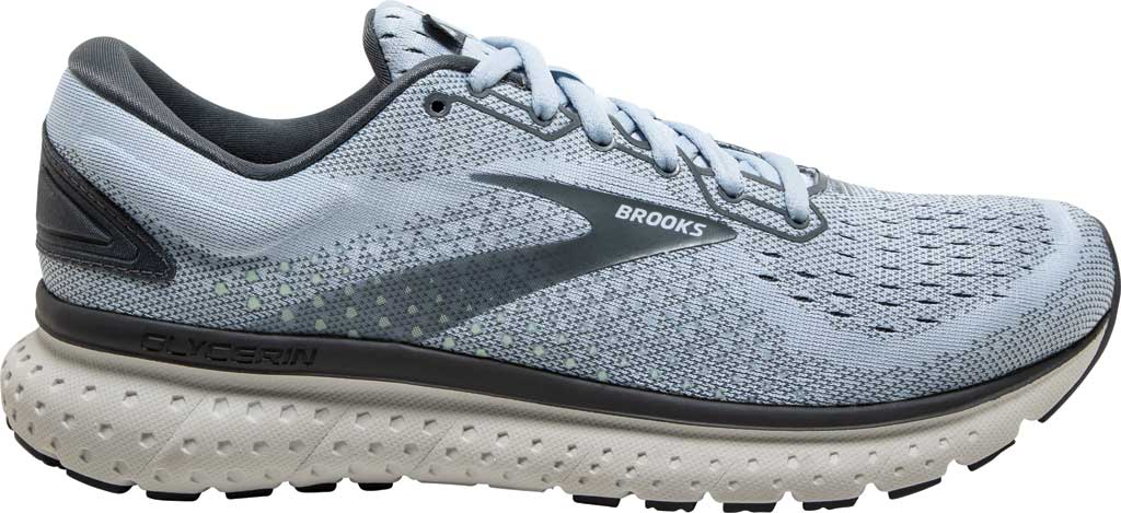 Women's Brooks Glycerin 18 Running Shoe, Kentucky/Turbulence/Grey, large, image 2