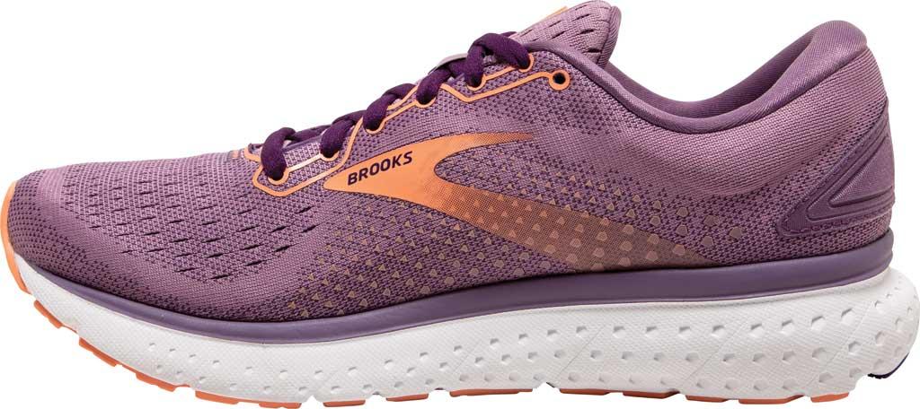 Women's Brooks Glycerin 18 Running Shoe, Valerian/Jewel/Cantaloupe, large, image 3