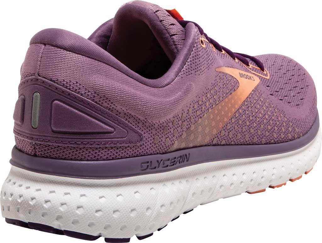 Women's Brooks Glycerin 18 Running Shoe, Valerian/Jewel/Cantaloupe, large, image 4