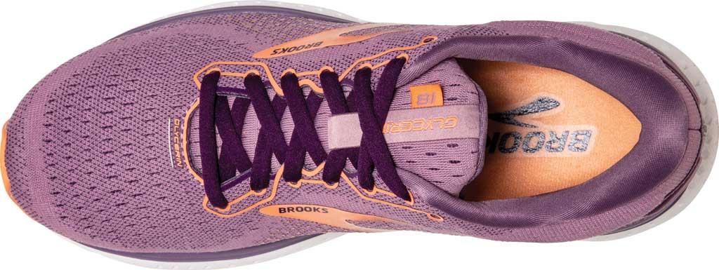 Women's Brooks Glycerin 18 Running Shoe, Valerian/Jewel/Cantaloupe, large, image 5