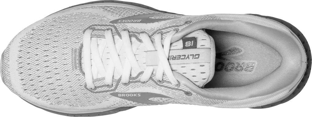 Women's Brooks Glycerin 18 Running Shoe, White/Grey/Primer, large, image 5