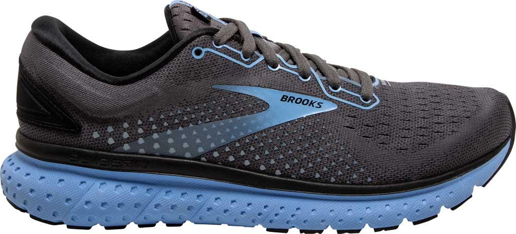 Women's Brooks Glycerin 18 Running Shoe, Black/Ebony/Cornflower, large, image 2