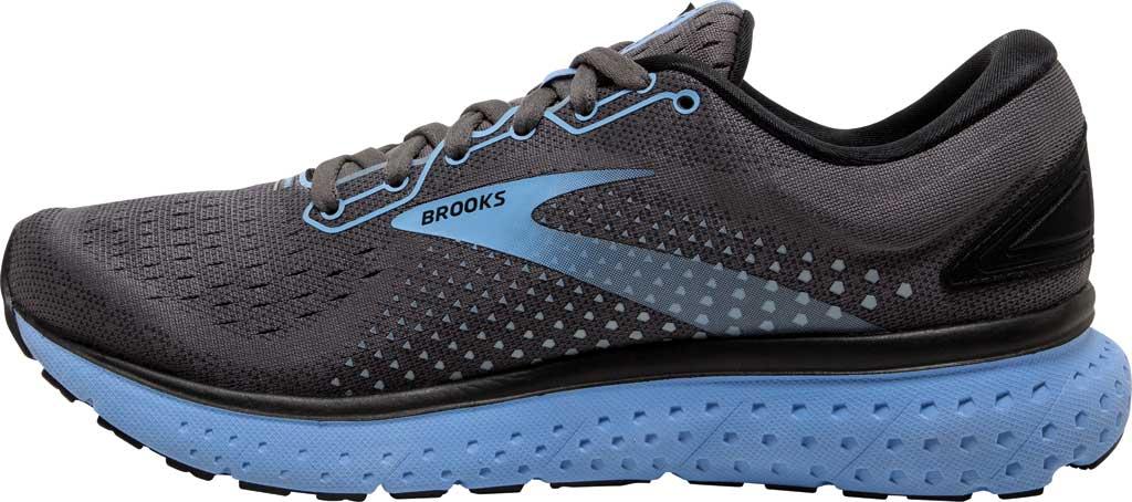Women's Brooks Glycerin 18 Running Shoe, Black/Ebony/Cornflower, large, image 3