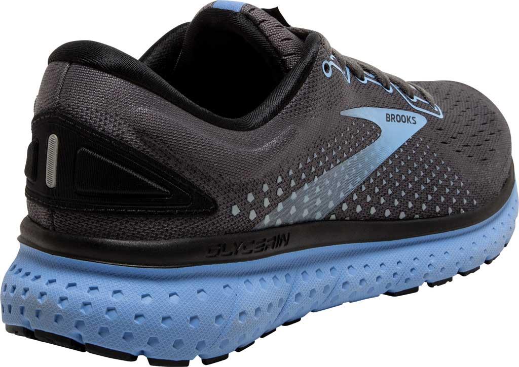 Women's Brooks Glycerin 18 Running Shoe, Black/Ebony/Cornflower, large, image 4