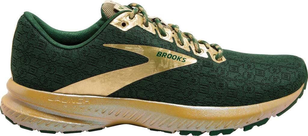 Women's Brooks Launch 7 Running Shoe, Eden/Gold, large, image 2