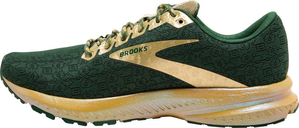Women's Brooks Launch 7 Running Shoe, Eden/Gold, large, image 3
