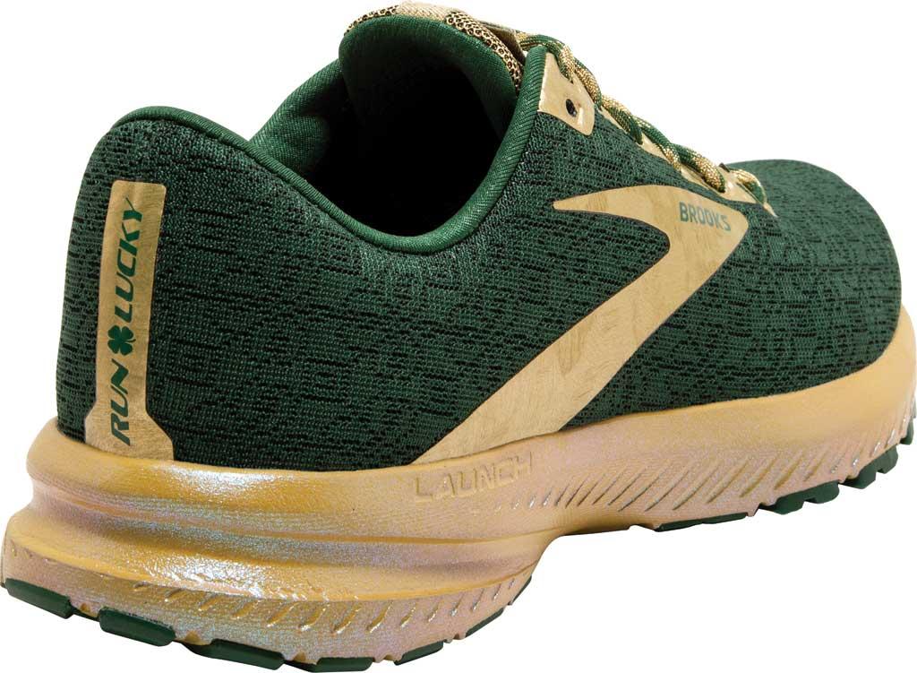 Women's Brooks Launch 7 Running Shoe, Eden/Gold, large, image 4