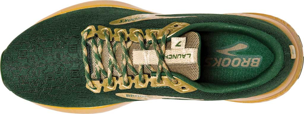 Women's Brooks Launch 7 Running Shoe, Eden/Gold, large, image 5