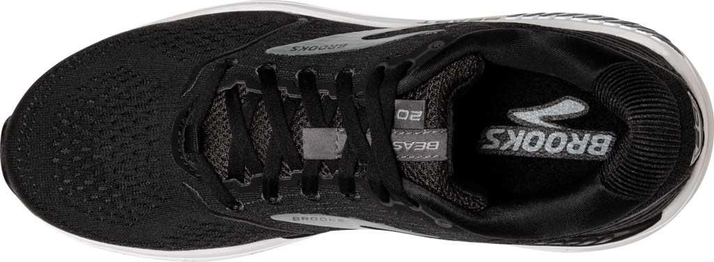 Men's Brooks Beast '20 Running Shoe, Black/Ebony/Grey, large, image 5