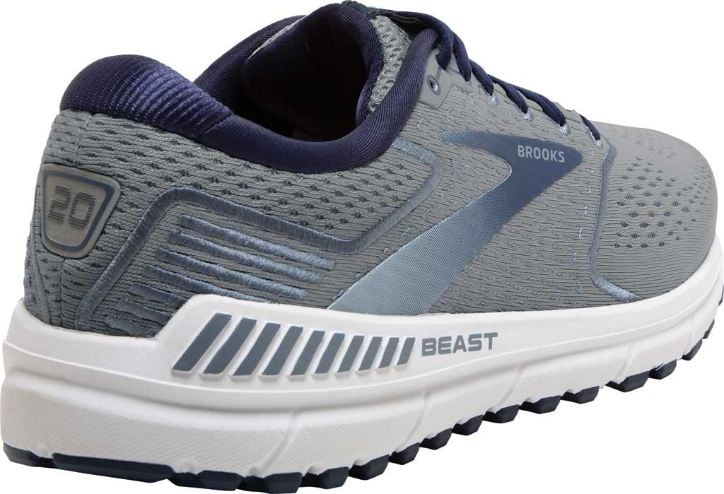 Men's Brooks Beast '20 Running Shoe, Blue/Grey/Peacoat, large, image 4
