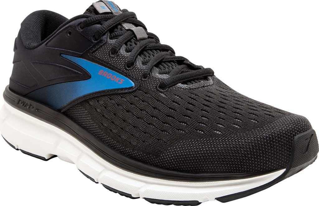 Men's Brooks Dyad 11 Running Shoe, Black/Ebony/Blue, large, image 1