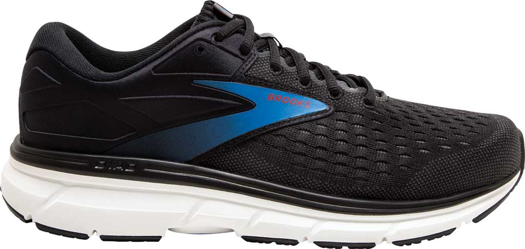 Men's Brooks Dyad 11 Running Shoe, Black/Ebony/Blue, large, image 2