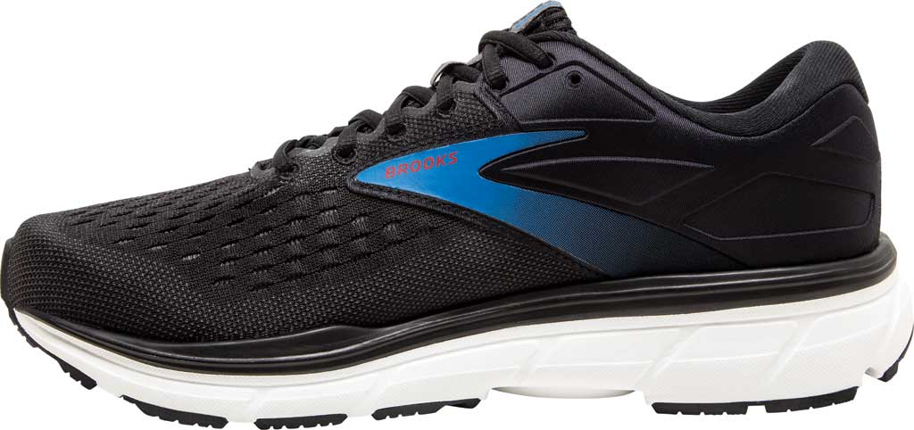 Men's Brooks Dyad 11 Running Shoe, Black/Ebony/Blue, large, image 3