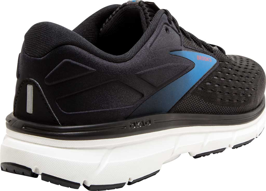 Men's Brooks Dyad 11 Running Shoe, Black/Ebony/Blue, large, image 4
