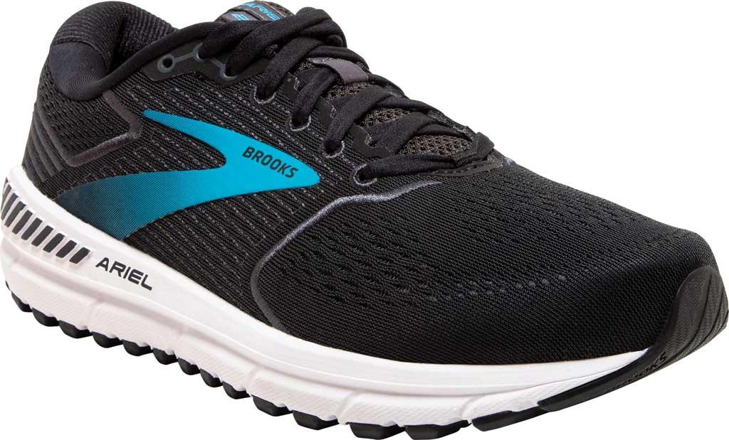 Women's Brooks Ariel '20 Running Shoe, Black/Ebony/Blue, large, image 1