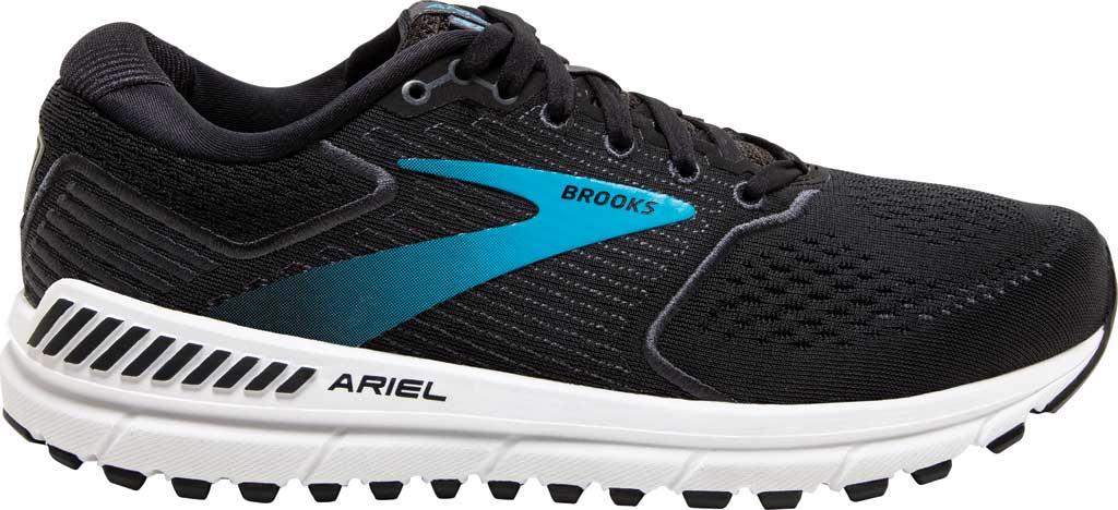 Women's Brooks Ariel '20 Running Shoe, Black/Ebony/Blue, large, image 2