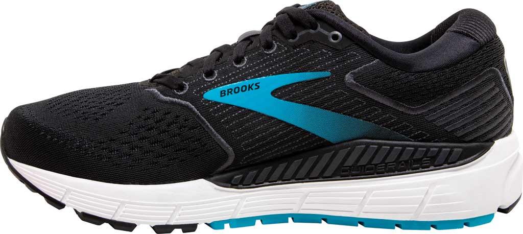 Women's Brooks Ariel '20 Running Shoe, Black/Ebony/Blue, large, image 3