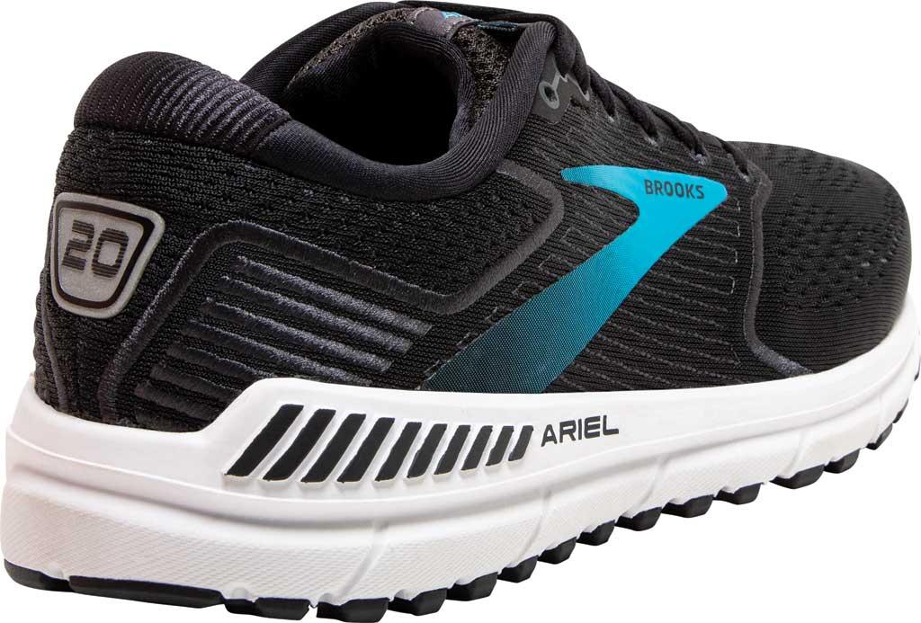 Women's Brooks Ariel '20 Running Shoe, Black/Ebony/Blue, large, image 4