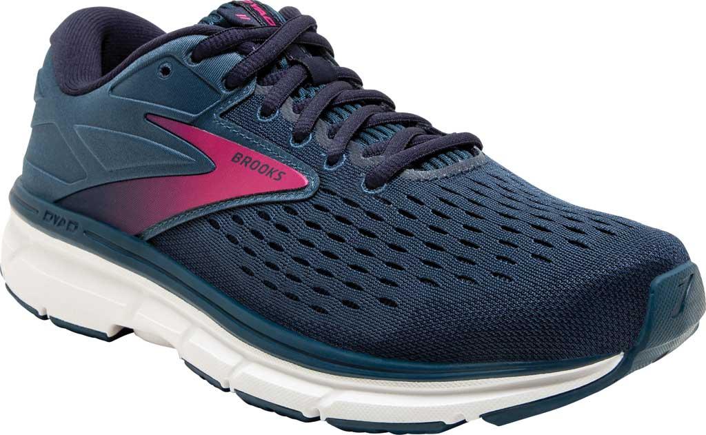 Women's Brooks Dyad 11 Running Shoe, Blue/Navy/Beetroot, large, image 1