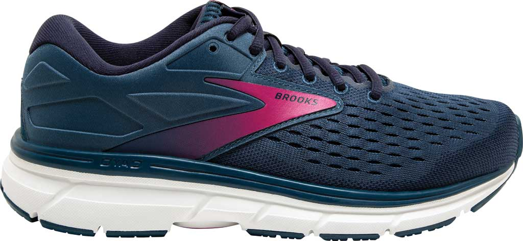 Women's Brooks Dyad 11 Running Shoe, Blue/Navy/Beetroot, large, image 2