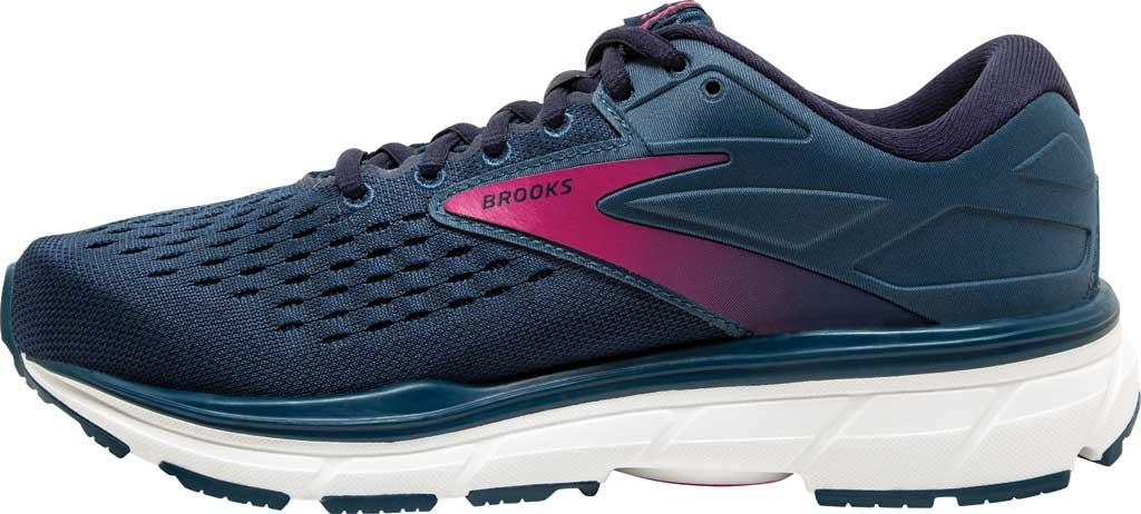 Women's Brooks Dyad 11 Running Shoe, Blue/Navy/Beetroot, large, image 3