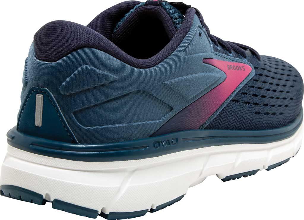 Women's Brooks Dyad 11 Running Shoe, Blue/Navy/Beetroot, large, image 4