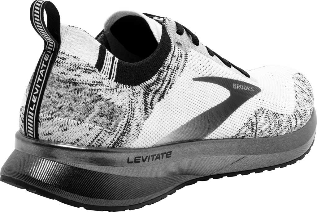 Men's Brooks Levitate 4 Running Shoe, White/Black, large, image 4