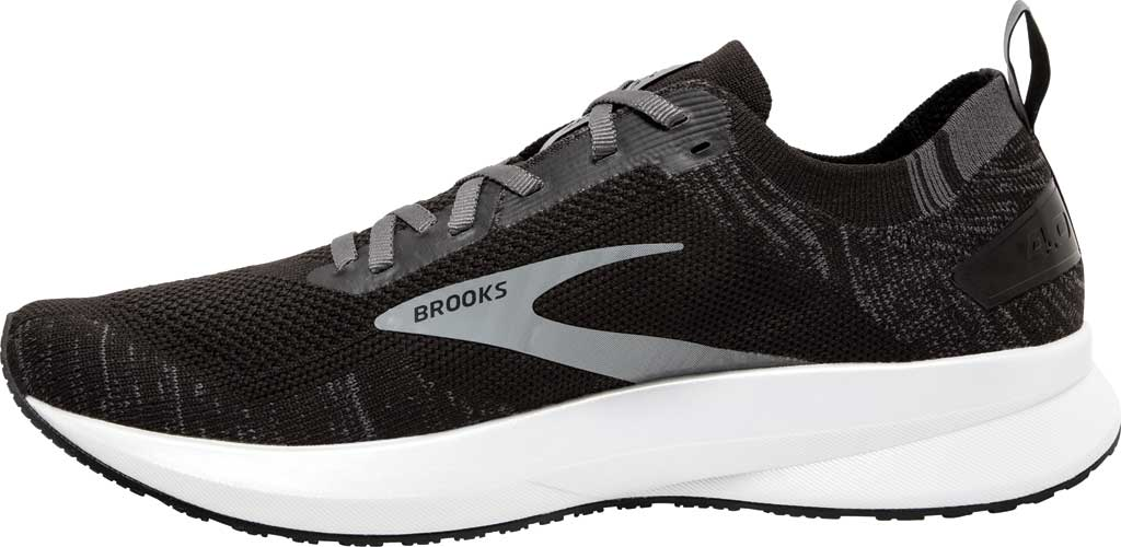 Men's Brooks Levitate 4 Running Shoe, Black/Blackened Pearl/White, large, image 3