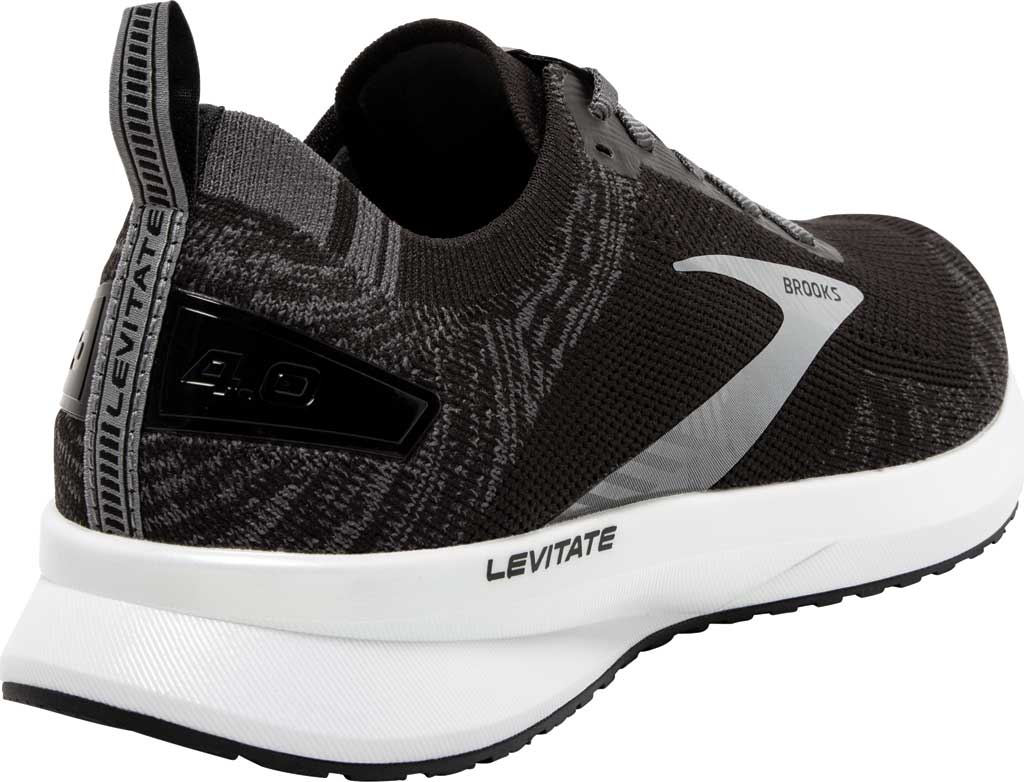 Men's Brooks Levitate 4 Running Shoe, Black/Blackened Pearl/White, large, image 4