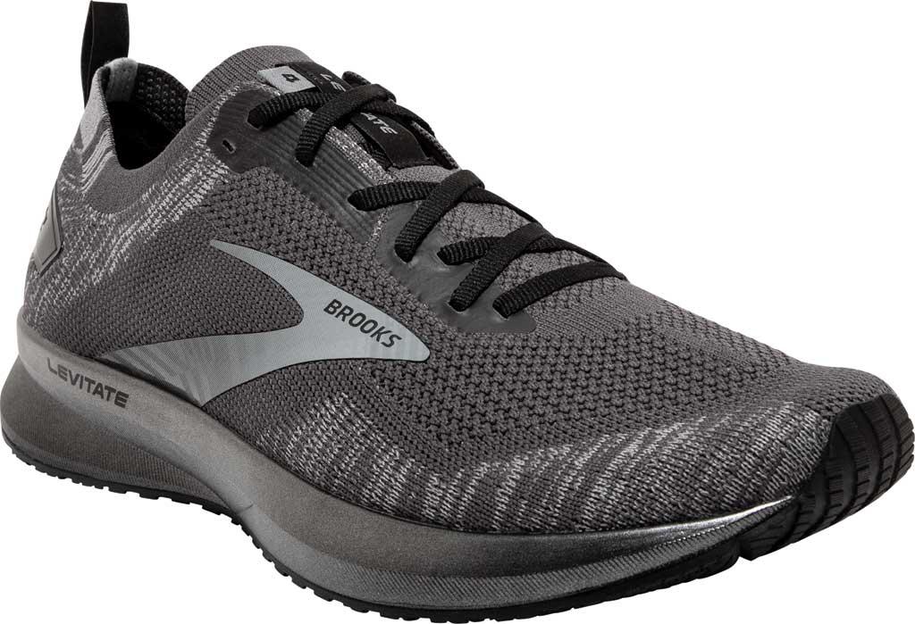 Men's Brooks Levitate 4 Running Shoe, Blackened Pearl/Grey/Black, large, image 1