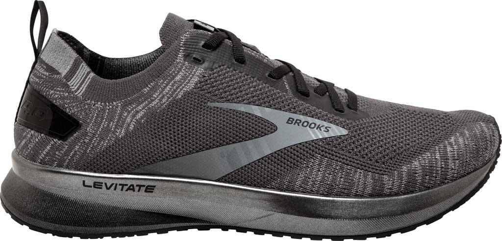 Men's Brooks Levitate 4 Running Shoe, Blackened Pearl/Grey/Black, large, image 2
