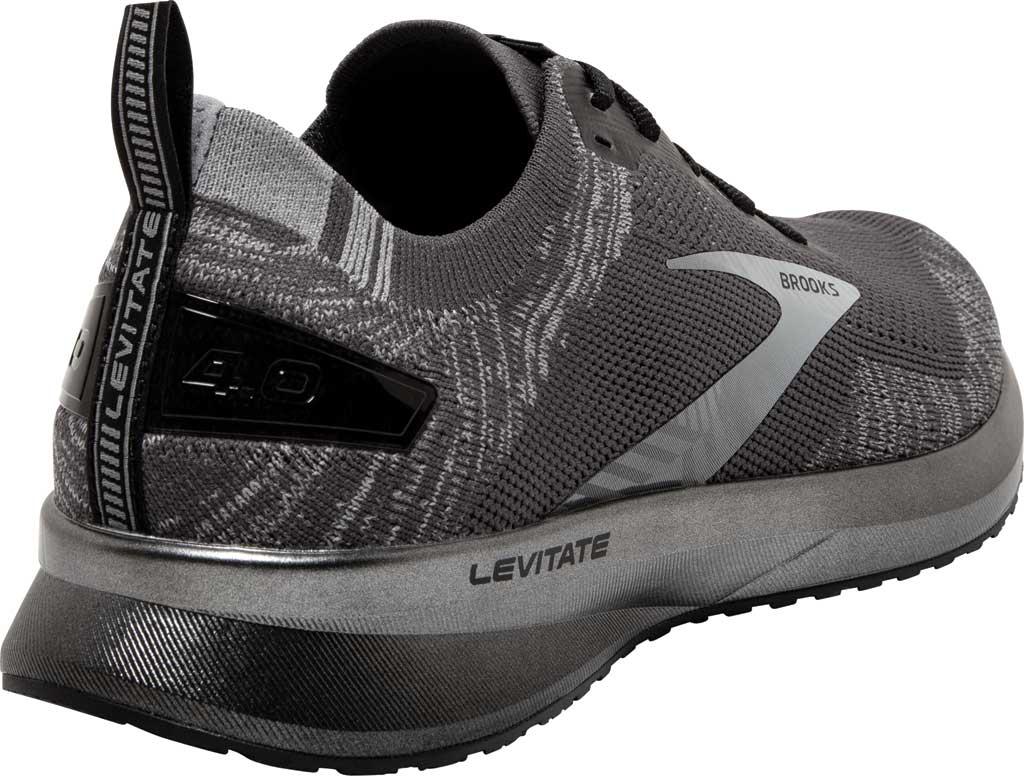 Men's Brooks Levitate 4 Running Shoe, Blackened Pearl/Grey/Black, large, image 4