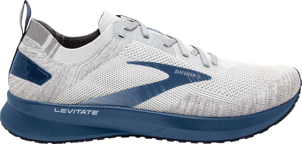 Men's Brooks Levitate 4 Running Shoe, Grey/Oyster/Blue, large, image 2