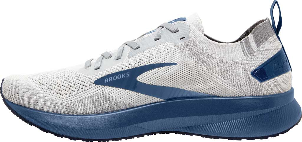 Men's Brooks Levitate 4 Running Shoe, Grey/Oyster/Blue, large, image 3