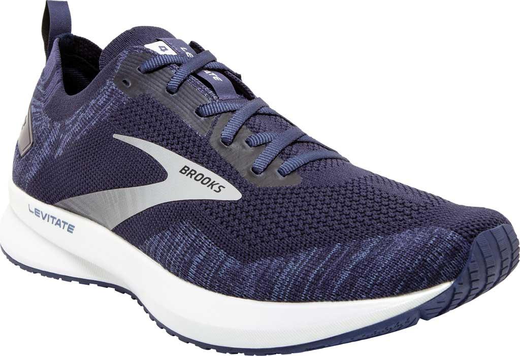 Men's Brooks Levitate 4 Running Shoe, Navy/Grey/White, large, image 1