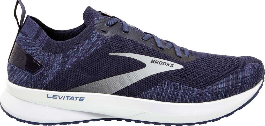 Men's Brooks Levitate 4 Running Shoe, Navy/Grey/White, large, image 2