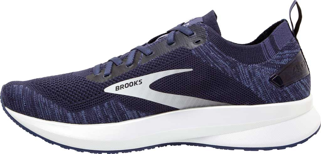 Men's Brooks Levitate 4 Running Shoe, Navy/Grey/White, large, image 3