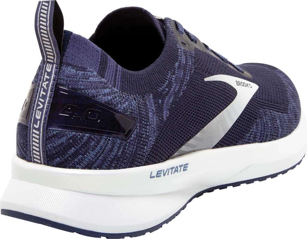 Men's Brooks Levitate 4 Running Shoe, Navy/Grey/White, large, image 4