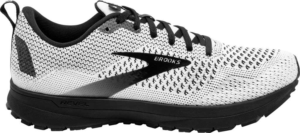 Women's Brooks Revel 4 Running Shoe, White/Black, large, image 2