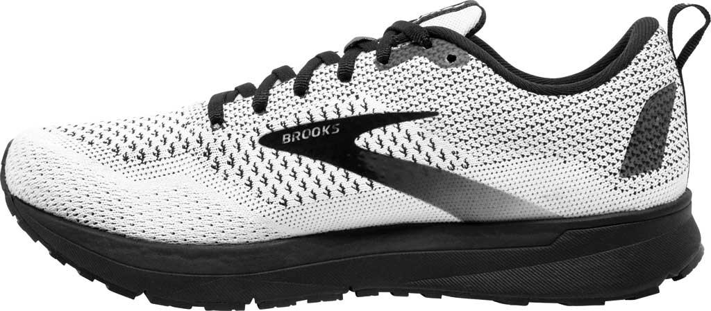 Women's Brooks Revel 4 Running Shoe, White/Black, large, image 3