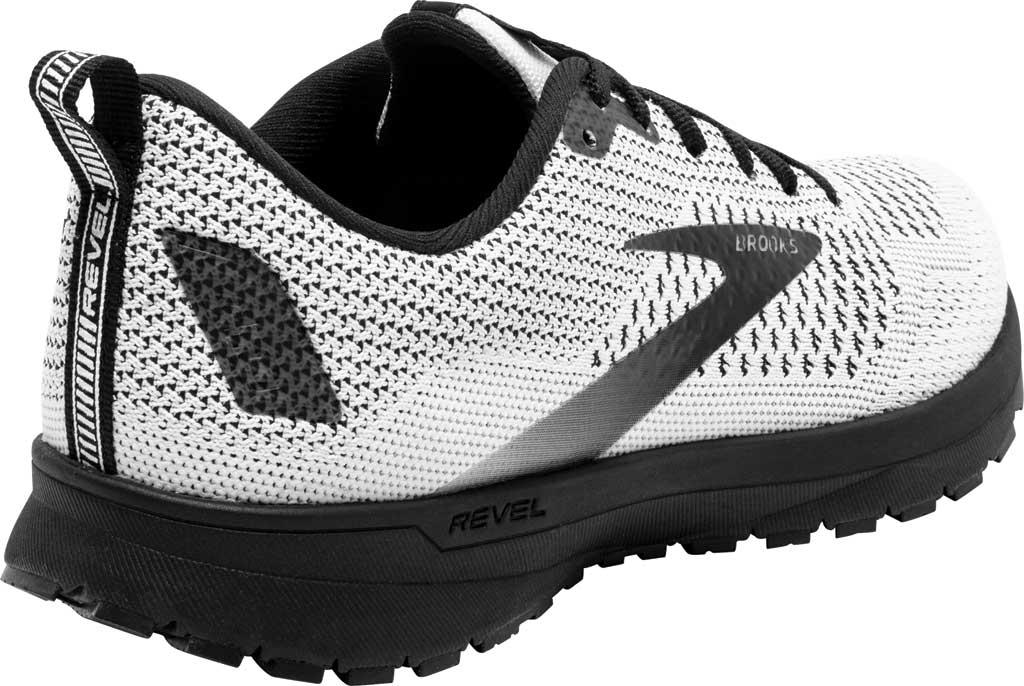 Women's Brooks Revel 4 Running Shoe, White/Black, large, image 4