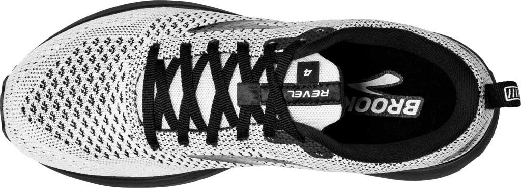 Women's Brooks Revel 4 Running Shoe, White/Black, large, image 5