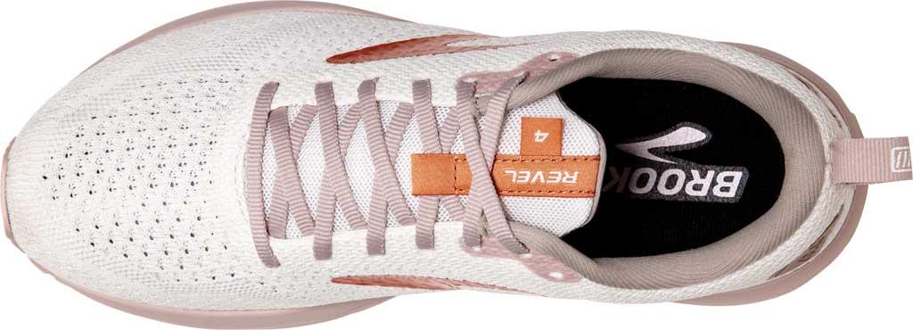 Women's Brooks Revel 4 Running Shoe, White/Hushed Violet/Copper, large, image 5
