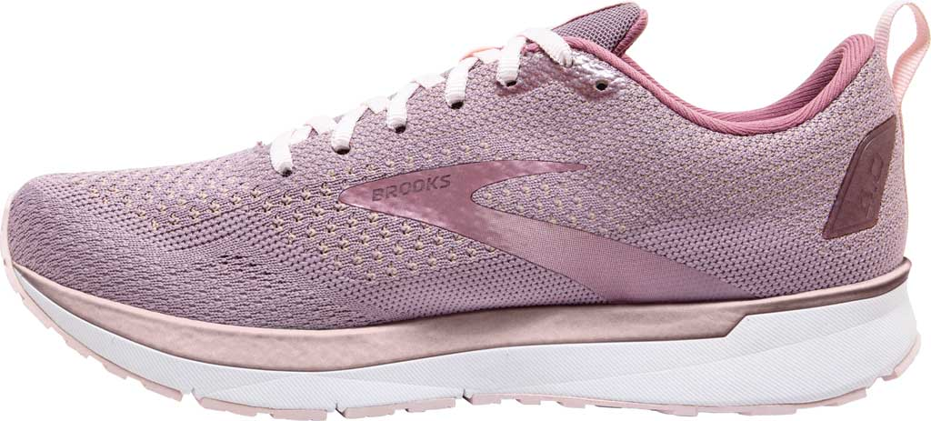 Women's Brooks Revel 4 Running Shoe, Almond/Metallic/Primrose, large, image 3