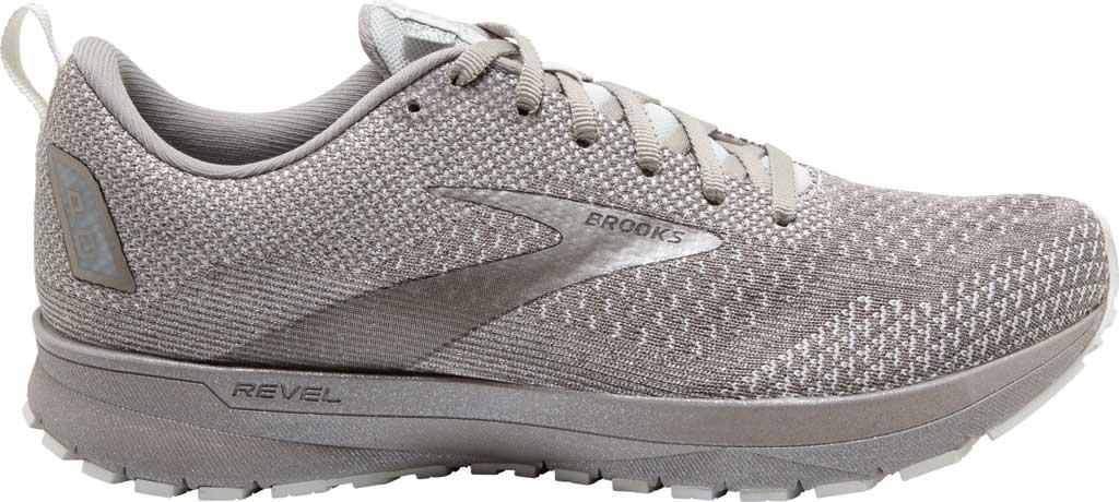 Women's Brooks Revel 4 Running Shoe, White/Paloma/Silver, large, image 2