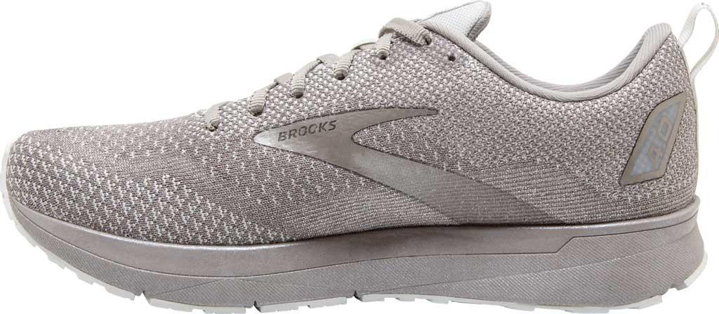 Women's Brooks Revel 4 Running Shoe, White/Paloma/Silver, large, image 3