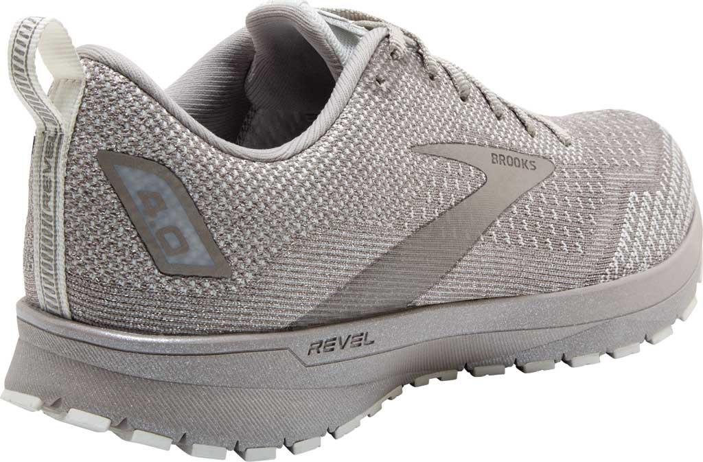 Women's Brooks Revel 4 Running Shoe, White/Paloma/Silver, large, image 4