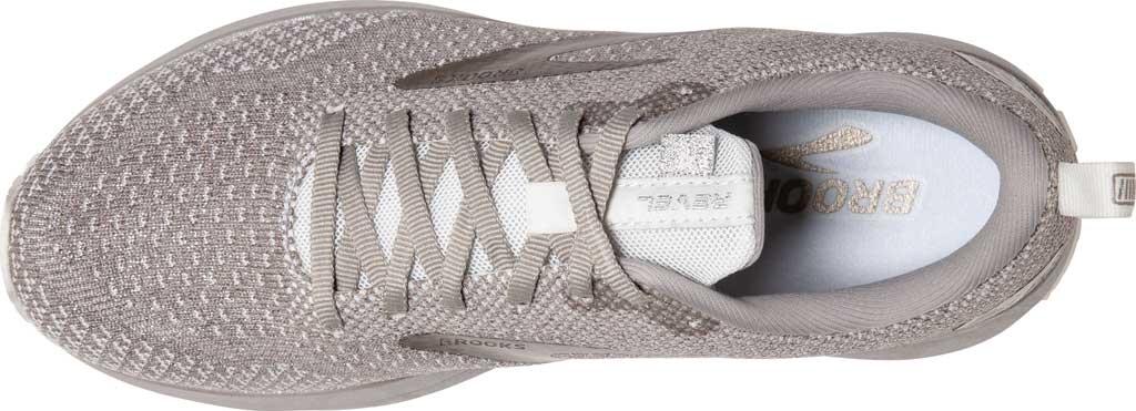 Women's Brooks Revel 4 Running Shoe, White/Paloma/Silver, large, image 5