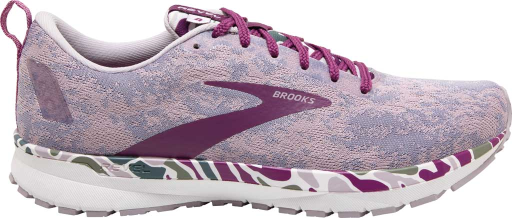 Women's Brooks Revel 4 Running Shoe, White/Wood Violet/Iris, large, image 2