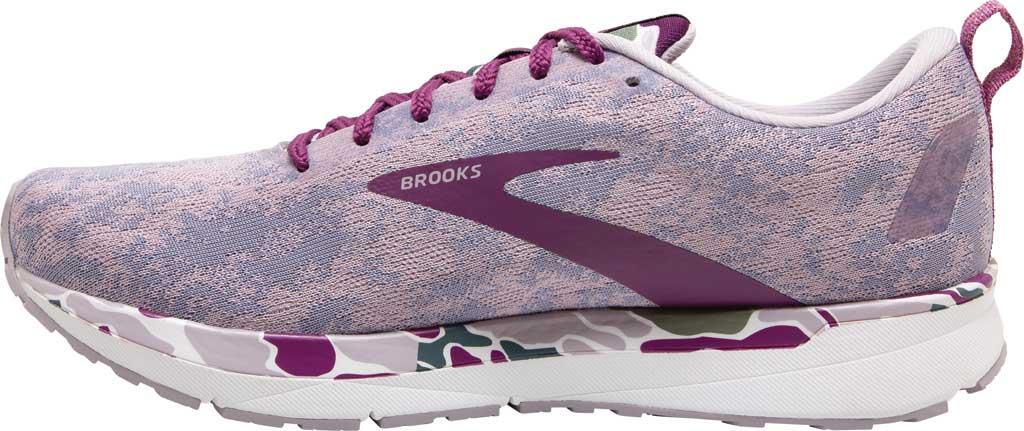 Women's Brooks Revel 4 Running Shoe, White/Wood Violet/Iris, large, image 3